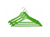 Набор вешалок для одежды МД 3 шт с нарезами 44,5х23х1,2 см RE05163G/3 зеленые