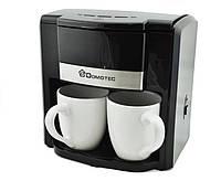 Кофеварка и 2 чашки Черная MS 0708 220V 152761