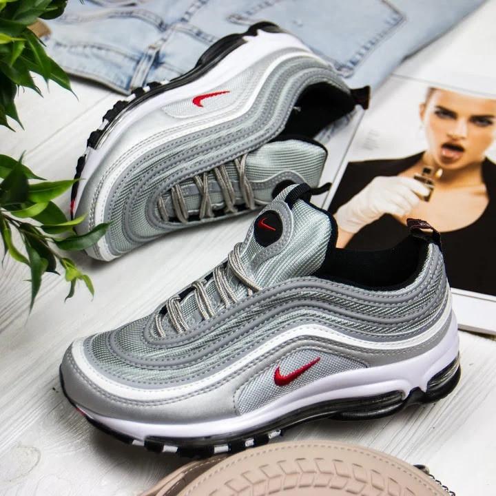 Женские кроссовки в стиле Nike Air Max 97 Silver