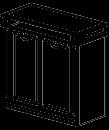 Шкаф низкий Классик 22/601(960х440х935)