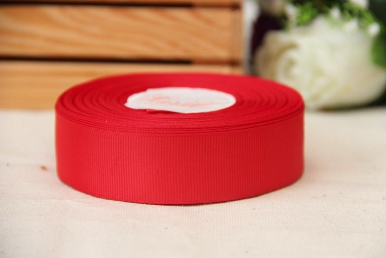 Репс 2,5 см    КРАСНЫЙ     Рулон 25 ярдов