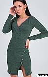 "Силуэтное платье Karree ""Винди"" декольте с имитацией запаха (бежевый, р.S), фото 6"