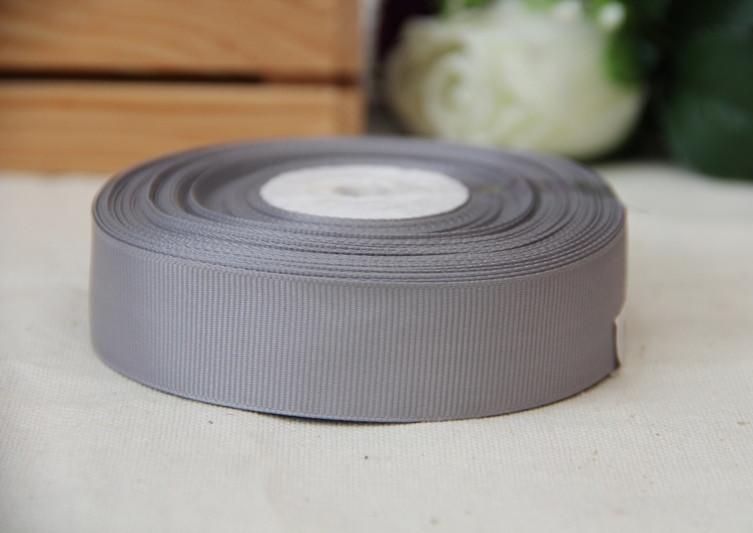 Репс 2,5 см   СЕРЫЙ        Рулон 25 ярдов