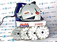 Штроборез AL-FA 3100w ( 4 диска в комплекте)