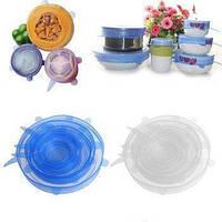 Пищевая силиконовая стрейч-крышка 6 размеров упаковывает вакуумную крышку для чаши и чашек различных размеров!Топ Продаж