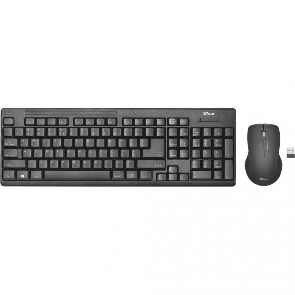 Клавіатура + миша Trust Ziva Wireless Keyboard with Mouse (22119)