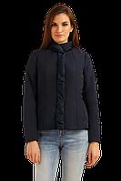 Женская осенняя куртка FiNN FLARE B19-11097-101 короткая тесно-синяя