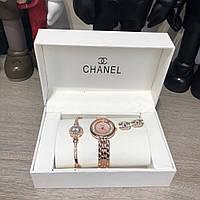 Подарочный Набор Chanel Bracelet/Watch/Earrings Gold