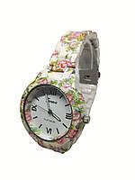 Женские часы  Geneva Flower PN308 на браслете под керамику., фото 2