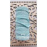 Шнур хлопковый крученный Макраме 4мм №13 Голубой, фото 2