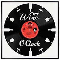 Пластинки в рамке Wine O'Clock (декор на кухню)