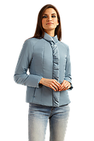 Женская весенняя куртка FiNN FLARE B19-11097-209 серо-голубая короткая