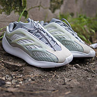Мужские кроссовки в стиле Adidas Yeezy 700 V3 grey green, Адидас Изи Буст 700 (Реплика ААА), фото 1