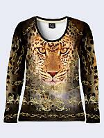 Женский  Лонгслив Золотой леопард