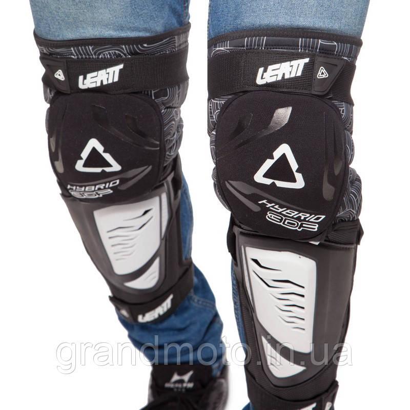Мотонаколенники Leatt Knee Guard 3DF подовжені, Білі
