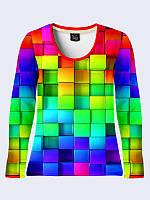 Женский  Лонгслив Цветные кубики