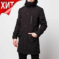 Демисезонная куртка парка мужская черная от бренда ТУР модель Рейдер (Raider 2.0) размер S, M, L, XL, XXL
