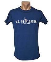 Брендовая синяя футболка Sport Line - №5315