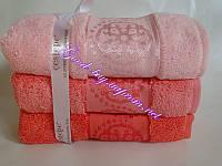 Полотенца банные Cestepe Micro Delux 100% хлопок / махра / 70*140 3шт. Турция