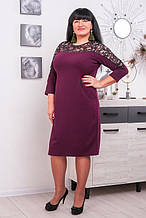Красивое платье с гипюром Барбара  4 цвета (52-62)