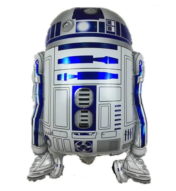 Воздушный фольгированный шар - фигура Робот R2D2 из Звёздных Войн 60*49 см