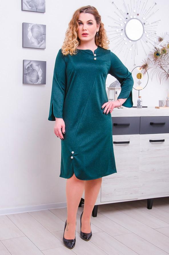 Элегантное  платье размер плюс  Фреда 3 цвета (52-62)