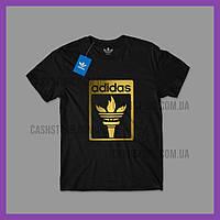 Футболка Adidas Originals 'Torch Logo' с биркой   Адидас   Черная