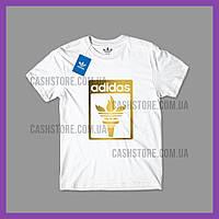Футболка Adidas Originals 'Torch Logo' с биркой   Адидас   Белая