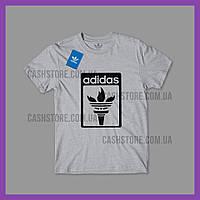 Футболка Adidas Originals 'Torch Logo' с биркой   Адидас   Серая