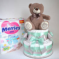 Торт з памперсів Goon, Merries, Moony, фото 1