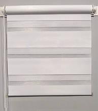 MSZ-022 Белый (0,425 х 1,70 м) Zebra (Зебра)  - Тканевые ролеты Oasis (Оазис)