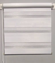 MSZ-032 Белый (0,450 х 1,70 м) Zebra (Зебра)  - Тканевые ролеты Oasis (Оазис)