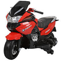 Детский мотоцикл BMW на аккумуляторе с кожаным сиденьем M 3282 EL-3 красный
