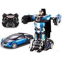 Машина-трансформер с пультом AUTOBOTS Bugatti Veyron Синяя Blue
