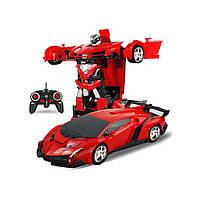 Машина-трансформер с пультом AUTOBOTS Lamborghini Красная Red