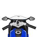 Детский мотоцикл BMW с кожаным сиденьем M 3636EL-4 синий, фото 5
