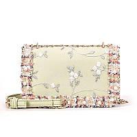 Зеленая женская сумка клатч с вышивкой код 3-451, фото 1