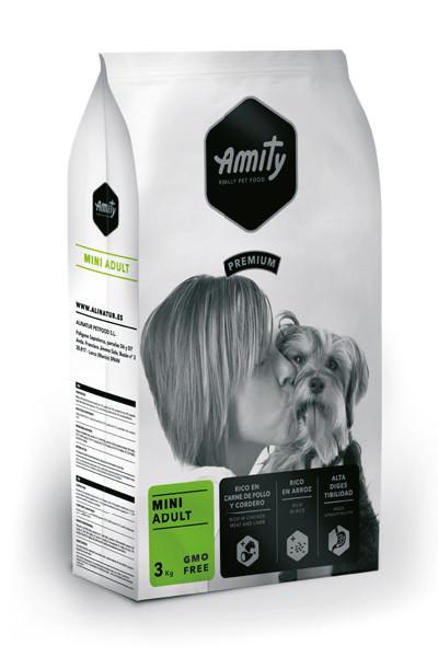 AMITY Mini Adult 18KG. Корм для собак для мелких пород, с курицей и ягненком