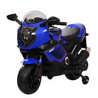 Детский мотоцикл BMW с кожаным сиденьем M 3578EL-4 синий