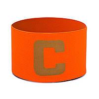 Повязка капитанская FB-114 (PL, эластан, безразмерная, цвет салатовый, оранжевый)