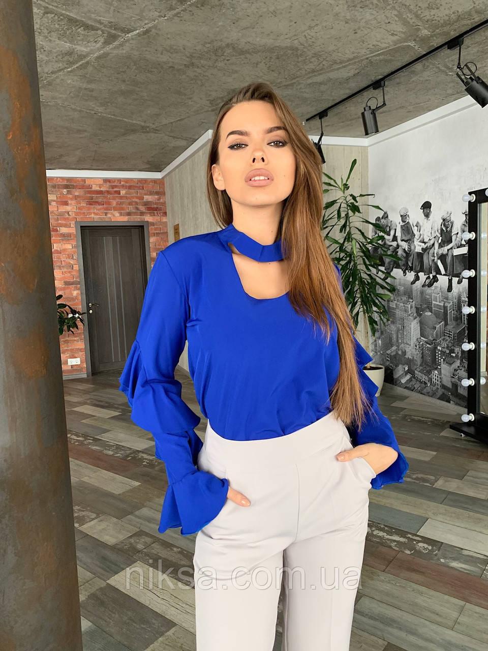 Блуза с воланами разные цвета