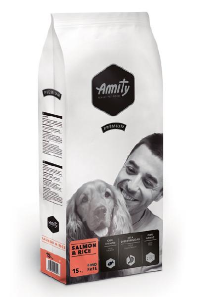AMITY Salmon&Rice 15KG. Корм для собак гипоаллергенный, с лососем и рисом