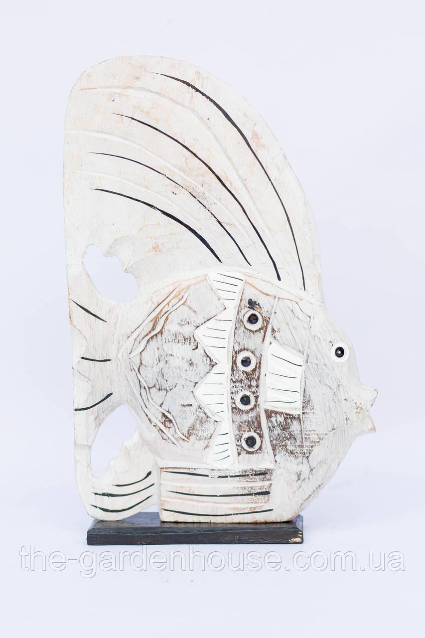 Белая рыба на подставке, 40 см
