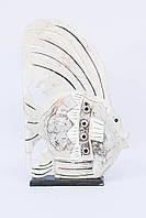 Белая рыба на подставке, 30 см