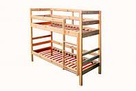Кровать для двух детей из натуральной сосны (сборка)