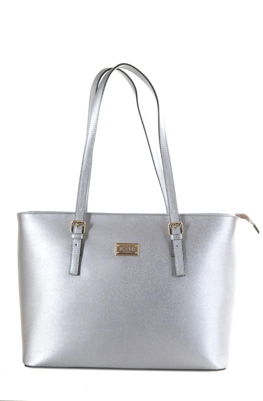 Жіноча шкіряна сумка LUNA diva's Bag колір срібний