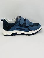 """Кожаные, светло синие кроссовки «баленсиага"""""""
