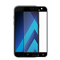 Защитное стекло Full Cover для Samsung Galaxy A3 2017 Черное