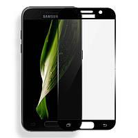 Защитное стекло Full Cover для Samsung Galaxy A7 2017 Черное