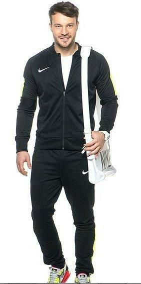 Спортивный костюм Найк, мужской костюм Nike, черный с змейкой, трикотажный
